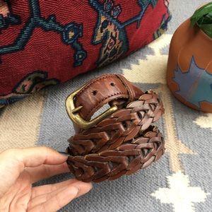 Vintage Distressed Leather Boho Belt